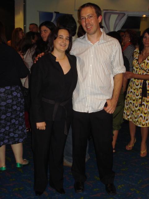 Gabriela Sabaté (productora) y Marcelo Martinessi (director)